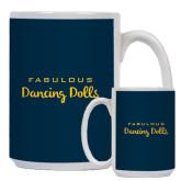 Full Color White Mug 15oz-Fabulous Dancing Dolls Wordmark