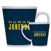 Full Color Latte Mug 12oz-Human Jukebox Wordmark