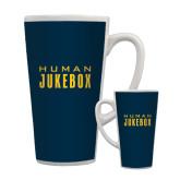 Full Color Latte Mug 17oz-Human Jukebox Wordmark