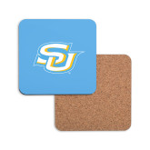 Hardboard Coaster w/Cork Backing-Interlocking SU