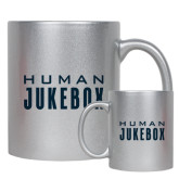 Full Color Silver Metallic Mug 11oz-Human Jukebox Wordmark