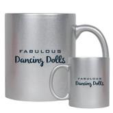 Full Color Silver Metallic Mug 11oz-Fabulous Dancing Dolls Wordmark