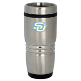 Rolling Ridges Silver Stainless Tumbler-Interlocking SU
