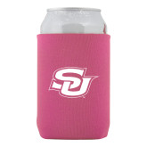 Collapsible Hot Pink Can Holder-Interlocking SU