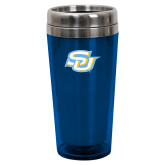 Solano Acrylic Blue Tumbler 16oz-Interlocking SU