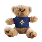 Plush Big Paw 8 1/2 inch Brown Bear w/Navy Shirt-The Human Jukebox Official Mark