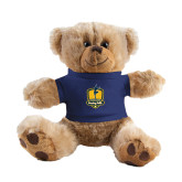 Plush Big Paw 8 1/2 inch Brown Bear w/Navy Shirt-Fabulous Dancing Dolls Official Mark