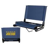 Stadium Chair Navy-Human Jukebox Wordmark