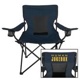Deluxe Navy Captains Chair-Human Jukebox Wordmark