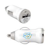 On the Go White Car Charger-Interlocking SU