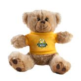 Plush Big Paw 8 1/2 inch Brown Bear w/Gold Shirt-The Human Jukebox Official Mark