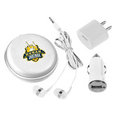 3 in 1 White Audio Travel Kit-The Human Jukebox Official Mark