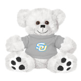 Plush Big Paw 8 1/2 inch White Bear w/Grey Shirt-Interlocking SU