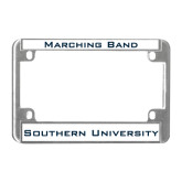 Metal Motorcycle License Plate Frame in Chrome-Southern University