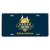 License Plate-The Human Jukebox - Grandma