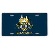 License Plate-The Human Jukebox - Grandpa