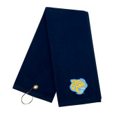 Navy Golf Towel-Jaguar Head