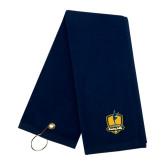 Navy Golf Towel-Fabulous Dancing Dolls Official Mark