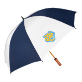 62 Inch Navy/White Umbrella-Jaguar Head