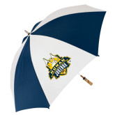 62 Inch Navy/White Umbrella-The Human Jukebox Official Mark