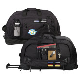 Urban Passage Wheeled Black Duffel-Interlocking SU