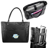 Sophia Checkpoint Friendly Black Compu Tote-Interlocking SU