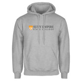 Grey Fleece Hoodie-Primary Logo Flat