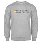 Grey Fleece Crew-Primary Logo Flat