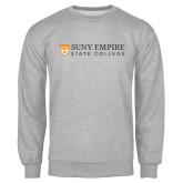 Grey Fleece Crew-Primary Logo Flat