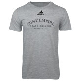 Adidas Sport Grey Logo T Shirt-Founded 1971