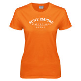 Ladies Orange T Shirt-Alumni