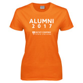 Ladies Orange T Shirt-Alumni Year, Personalized year