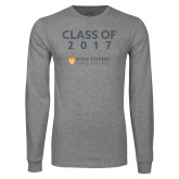 Grey Long Sleeve T Shirt-Class Of…, Personalized year