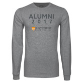 Grey Long Sleeve T Shirt-Alumni Year, Personalized year