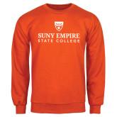 Orange Fleece Crew-Primary Logo