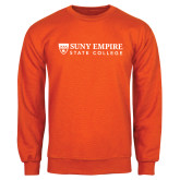 Orange Fleece Crew-Primary Logo Flat