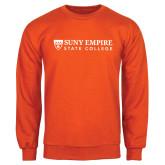 Orange Fleece Crew-Primary Logo Flat