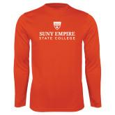 Syntrel Performance Orange Longsleeve Shirt-Primary Logo