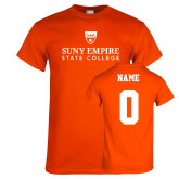 Orange T Shirt-Primary Logo, Custom Tee w/ Name and #