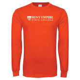 Orange Long Sleeve T Shirt-Primary Logo Flat
