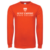 Orange Long Sleeve T Shirt-Primary Mark Distressed