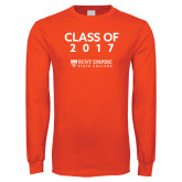 Orange Long Sleeve T Shirt-Class Of…, Personalized year