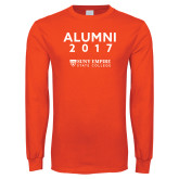 Orange Long Sleeve T Shirt-Alumni Year, Personalized year