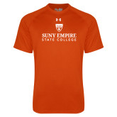 Under Armour Orange Tech Tee-Primary Logo