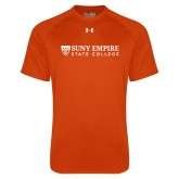Under Armour Orange Tech Tee-Primary Logo Flat