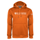 Under Armour Orange Performance Sweats Team Hoodie-Primary Logo Flat
