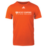 Adidas Orange Logo T Shirt-Primary Logo Flat