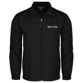 Full Zip Black Wind Jacket-Primary Logo Flat