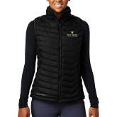 Columbia Lake 22 Ladies Black Vest-Primary Logo