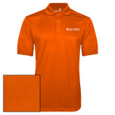 Orange Dry Mesh Polo-Primary Logo Flat